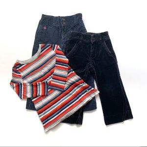 Ralph Lauren Gap Girls 2T Bundle Tee & 2 Pants